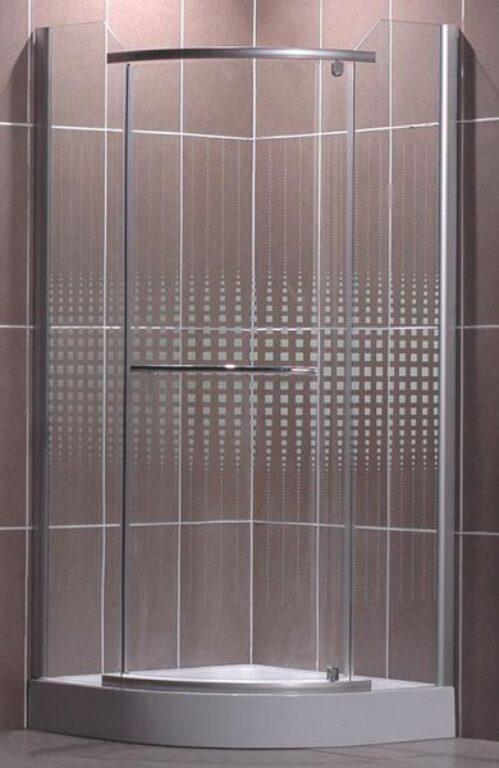 ROL-AUSTIN/900 Stříbro/Transp+potisk  sprchový kout čtvrtkruhový - Sprchové kouty pro koupelny / Čtvrtkruhové sprchové kouty do koupelny / Katalog koupelen