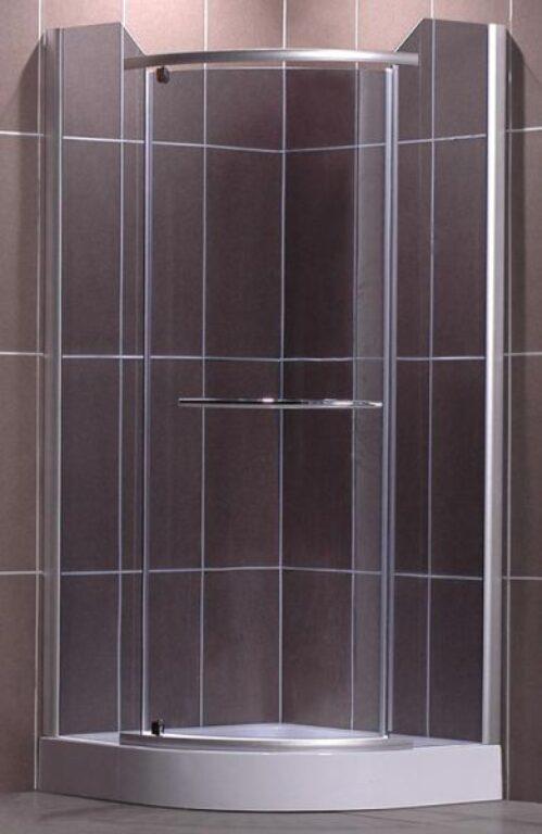 ROL-DENVER/900 Stříbro/Rauch sprchový kout čtvrtkruhový - Sprchové kouty pro koupelny / Čtvrtkruhové sprchové kouty do koupelny / Katalog koupelen