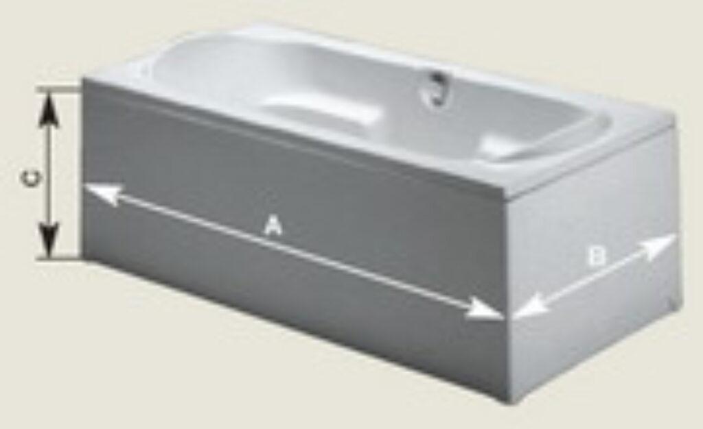 RIHO panel krycí rovný P 150 150x57 cm, bílý I.j - Vany  / Vanové zástěny do koupelen / Katalog koupelen