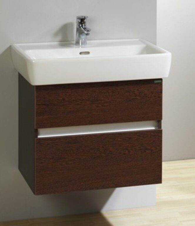 LB Q2 skříňka závěsná vč.umyvadla QLP60.W wenge - Koupelnový nábytek / Skříňky pod umyvadlo