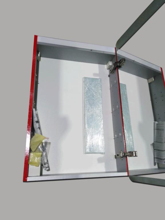 LB STAR skříňka zrcadlová s osvětlením pravá ST1P.3020 červená lesklá - Doprodej koupelnového vybavení / Koupelnový nábytek v doprodeji