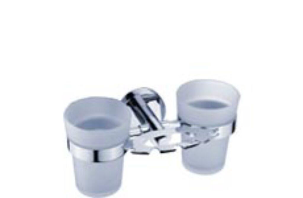 NIMCO-Unix držák kartáčků a sklenek rosené sklo/kov UN13057DC-26 - Doprodej koupelnového vybavení / Koupelnové doplňky / Doplňky do koupelny