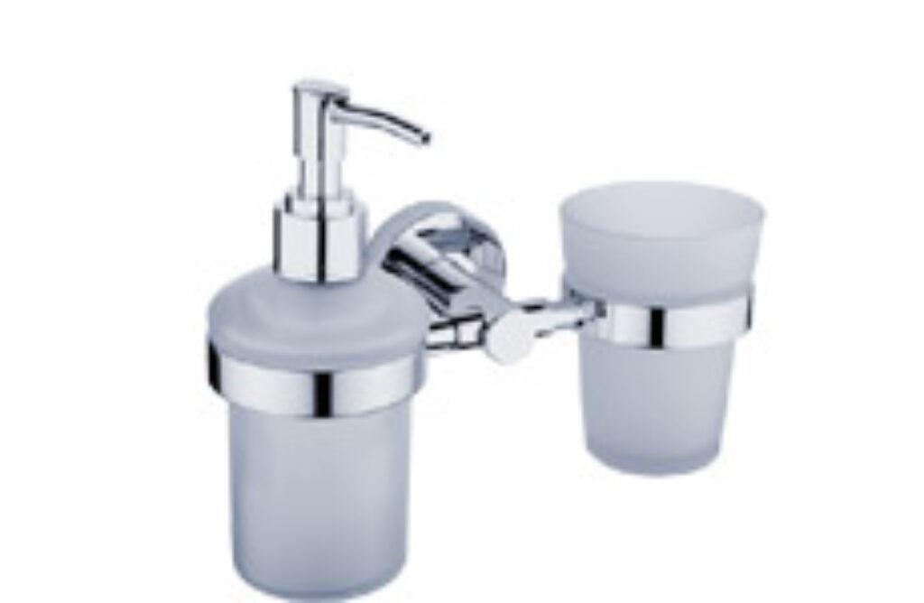 NIMCO-Unix držák sklenky a dávkovače 180ml rosené sklo/plast UN1305831C-P-26 - Koupelnové doplňky / Doplňky k WC