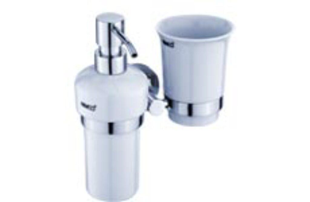 NIMCO-Unix dávkovač 200ml a držák pohárku keramika/kov UN1305831K-26 - Doprodej koupelnového vybavení / Koupelnové doplňky