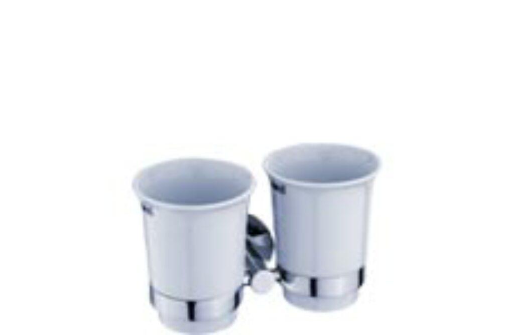 NIMCO-Unix dvojitý držák pohárků keramika/kov UN13058DK-26 - Doprodej koupelnového vybavení / Koupelnové doplňky / Doplňky do koupelny