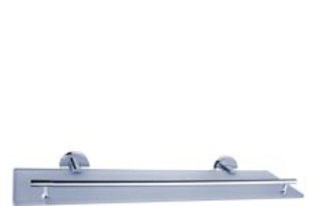 NIMCO-Unix polička rosené sklo/kov UN13091C-26 - Doprodej koupelnového vybavení / Koupelnové doplňky