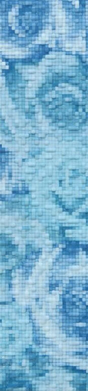 orchidea 39,8/9 I.j.modrá listela WLAMC003 - Doprodej obkladů a dlažeb / Obklady a dlažby RAKO v doprodeji