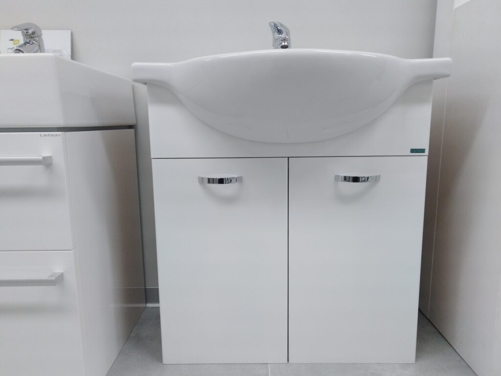 LB CLASS MA05.BL skříňka závěsná s umyvadlem 70x48cm buk/bílá - Doprodej koupelnového vybavení / Koupelnový nábytek v doprodeji / Skříňky pod umyvadlo ve slevě