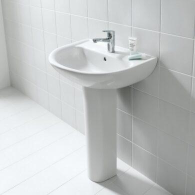 LAUFEN PRO-B umyvadlo 60x48cm bílé 1095.2(ch104)+sloup bílý 1995.0(530191095210S)