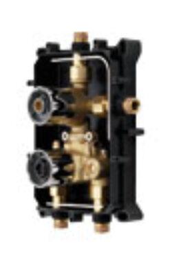 ORAS OPTIMA podomítkové těleso pro sprchovou+vanovou termostat. bat. 7128 chrom(6340000007128)