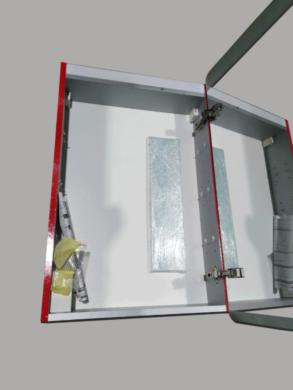 LB STAR skříňka zrcadlová s osvětlením pravá ST1P.3020 červená lesklá(66000ST1P3020)