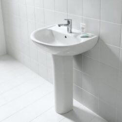 LAUFEN PRO-B umyvadlo 60x48cm bílé 1095.2(ch104)+sloup bílý 1995.0-Umyvadlo Laufen PRO-B 60x48 cm bílé s otvorem pro baterii Součástí umyvadla je i sloup Vhodné do každé koupelny