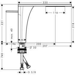 AX Massaud páková baterie pro umyvadlovou mísu chrom 18020000(6002018020000)