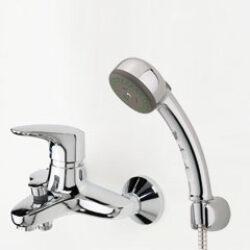 ORAS VEGA vanová+sprchová bat. EKO páka 1841U (dříve 1841Y) chrom-Vanová a sprchová nástěnná baterie včetně sprchové soupravy Oras Sensiva (dvoupolohová ruční sprcha). Ekopáka Vhodná do každé koupelny
