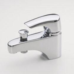 ORAS SAGA PLUS vanová+sprchová stoj.bat. EKO páka 1946FG chrom-Vanová a sprchová stojánková jednootvorová baterie. Ekopáka, flex.hadičky. Vhodná na vanu do koupelny