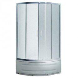 RAVAK SKCP4-80 Sabina sprchový kout Bílá/Grape (31144V100ZG)-Sprchový kout k vyšší sprchové vaničce Sabina. Bílý rám, výplň skleněná v dekoru Grape. Výška 170 cm