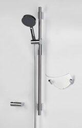 ORAS HYDRA sprchová souprava 390-ruční sprcha s normální a masážní funkcí, s úpravou proti usazování vodního kamene; sprchová hadice délky 1,5 m; sprchová tyč s nastavitelnou roztečí úchytů; držák sprchy; mýdelník