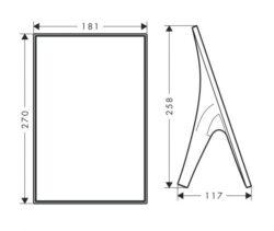 AX Massaud stojací zrcadlo chrom 42240000(6002042240000)
