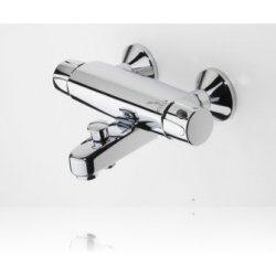 ORAS NOVA vanová+sprchová termostatická bat. 7462CY chrom-Sprchová termostatická baterie, reaguje velmi rychle na změny teploty vstupní vody a udržuje teplotu vody dle požadavků. Ovládací segment teploty vody je vybaven bezpečnostním tlačítkem (nastavena teplota 38°C)