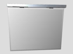LB PLAN zrcadlo s fazetou B05-Zrcadlo s osvětlením a fazetou po okraji Výška vč. osvětlení 63 cm, šířka 74,5 cm Vhodné do každé koupelny