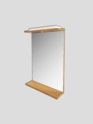 LB ELEMENTS B zrcadlo ELBZ47.D dub-Zrcadlo s osvětlením a poličkou. Dekor dub. Vhodné do každé koupelny