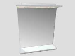 LB ELEMENTS C zrcadlo ELBZ60.L bílá-Zrcadlo s osvětlením  - 2 bodová světla. Provedení bílá. Výška zrcadla 63 cm