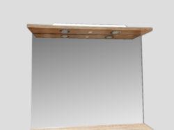 LB ELEMENTS B ATYP zebrano pískové ELBZ80 Y-492-MY-zrcadlo-Zrcadlo s osvětlením. Provedení zebrano - dekor dřeva Výška 69 cm, šířka 80 cm Vhodné do každé koupelny