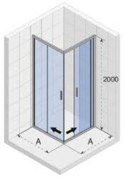 RIHO Hamar 2.0 sprchový kout čtverec 90x90x1950cm GR94200(650000GR94200)