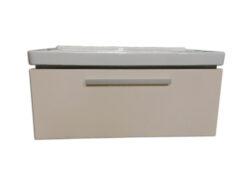 JIKA CUBITO skříňka a  umyvadlo 85cm fino/béž.lesklý lak-Skříňka včetně umyvadla 85 cm šířka. Korpus - čelní strana béžový lak, boky fino (dekor dřeva) Vhodné do každé koupelny